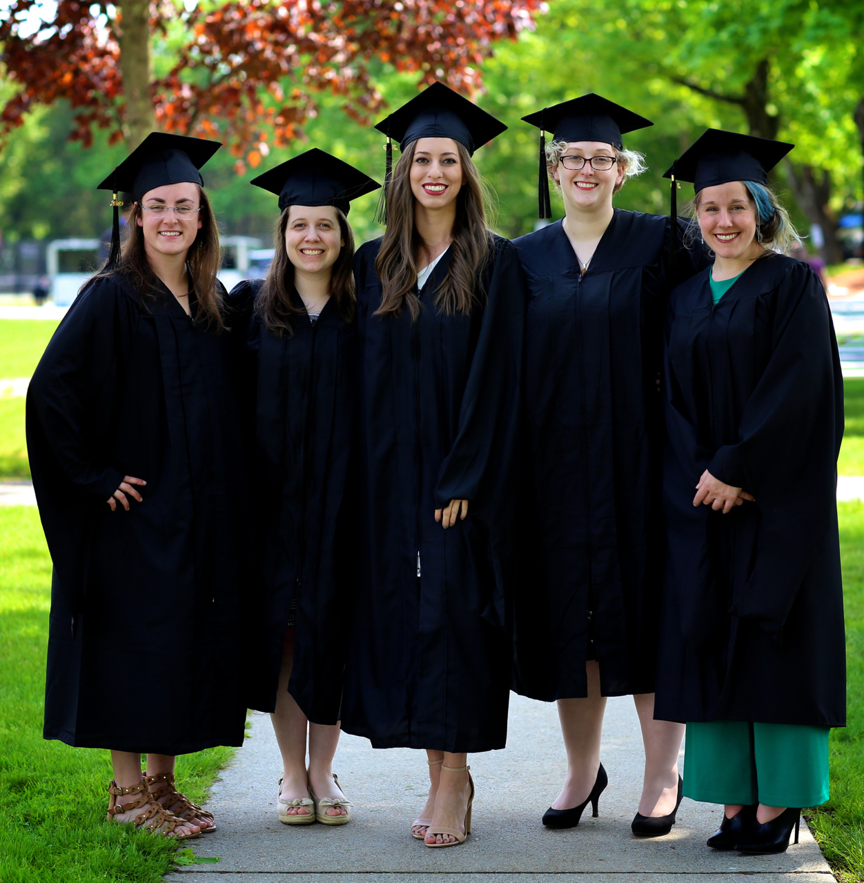 MS in Animals and Public Policy graduating students at Tufts University's Cummings School of Veterinary Medicine's 37th commencement ceremony, 2019