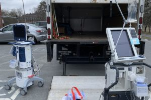 Foster Hospital Ventilators and PPE being transported to UMASS Memorial Medical Center to assist with COVID-19