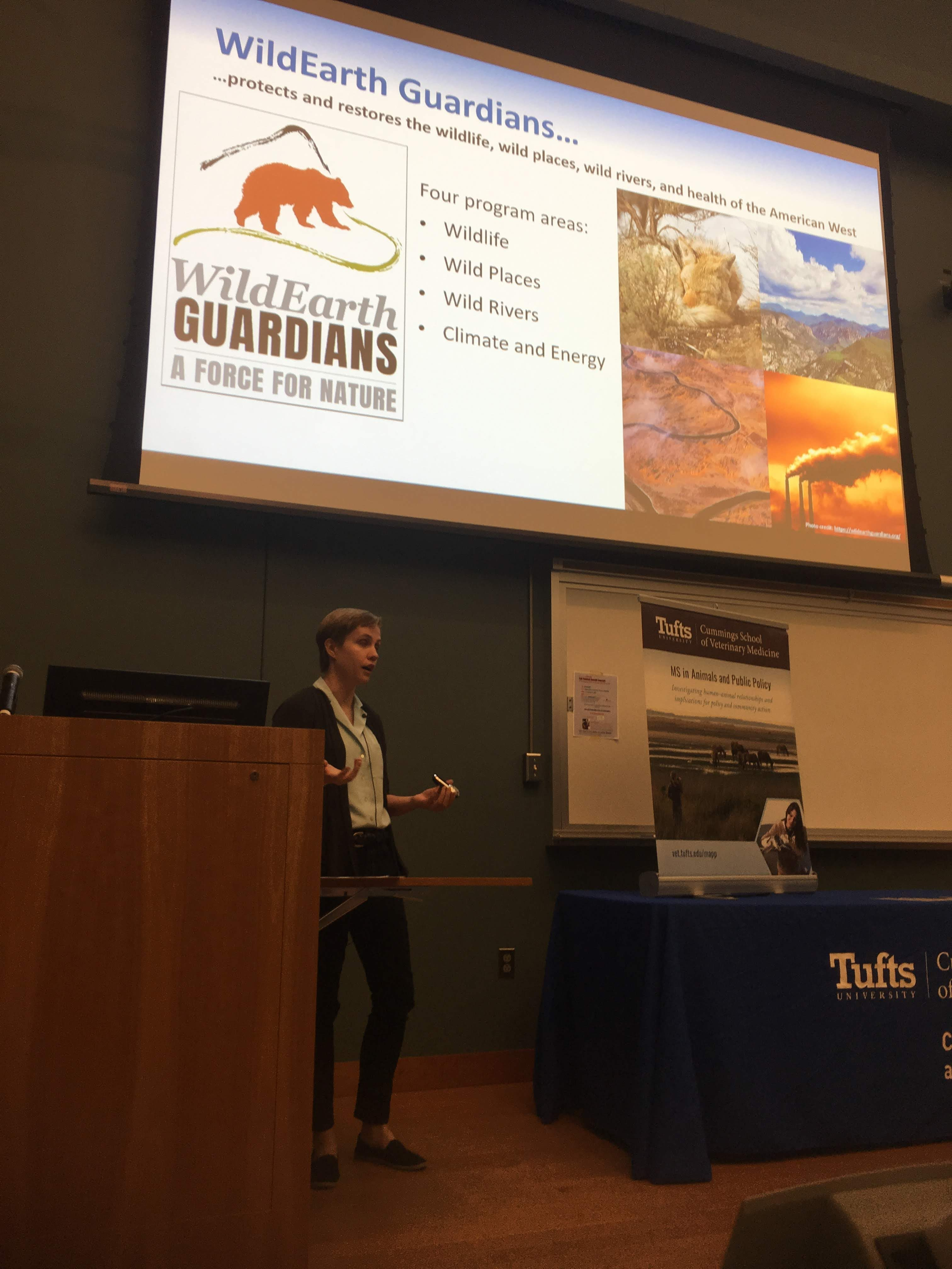 Mikaila Wireman presenting at the MS in Animals and Public Policy Student Externship and Research Poster Presentations