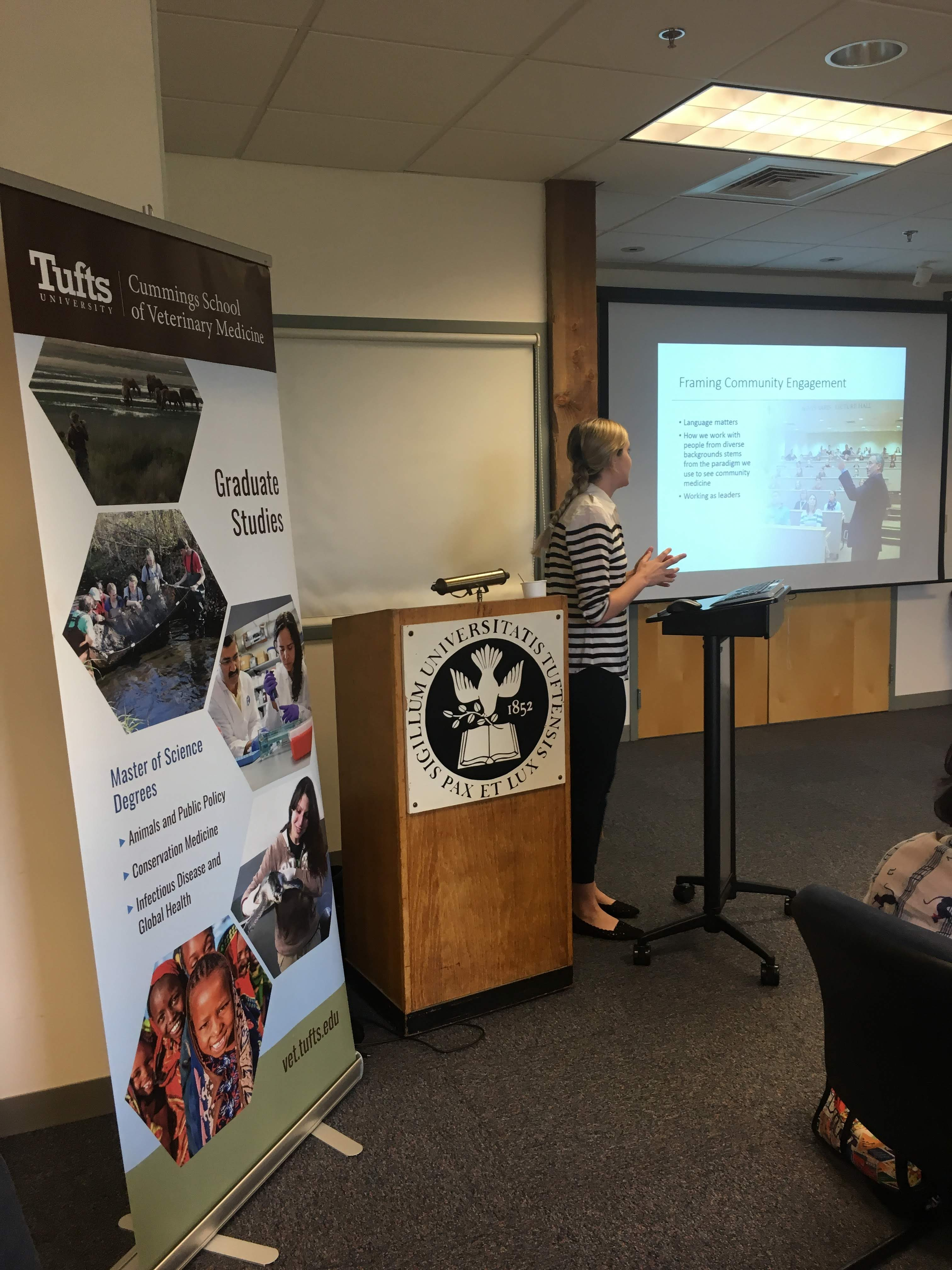 "Summer Short Course: Animals and Society 2018 - Erin King, MS, MAPP 2016 alumna, presented ""Ethical Community Engagement."""