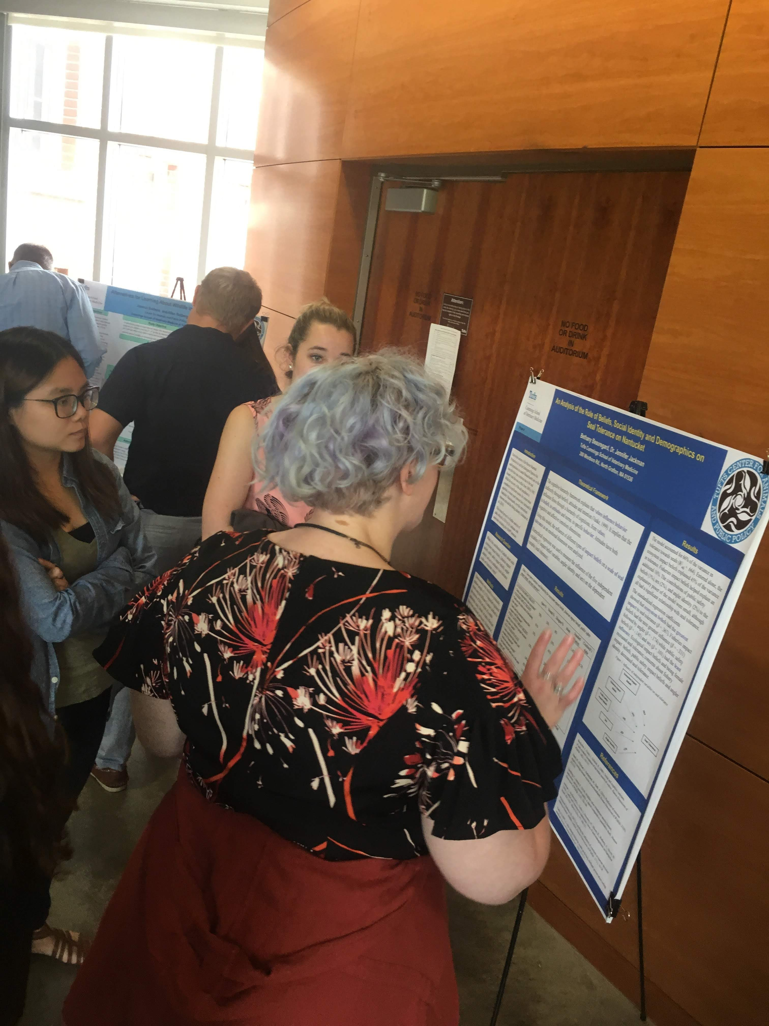 """Bethany Beauregard presenting, """"An Analysis of the Role of Beliefs, Social Identity, and Demographics on Seal Tolerance on Nantucket, MA"""""""