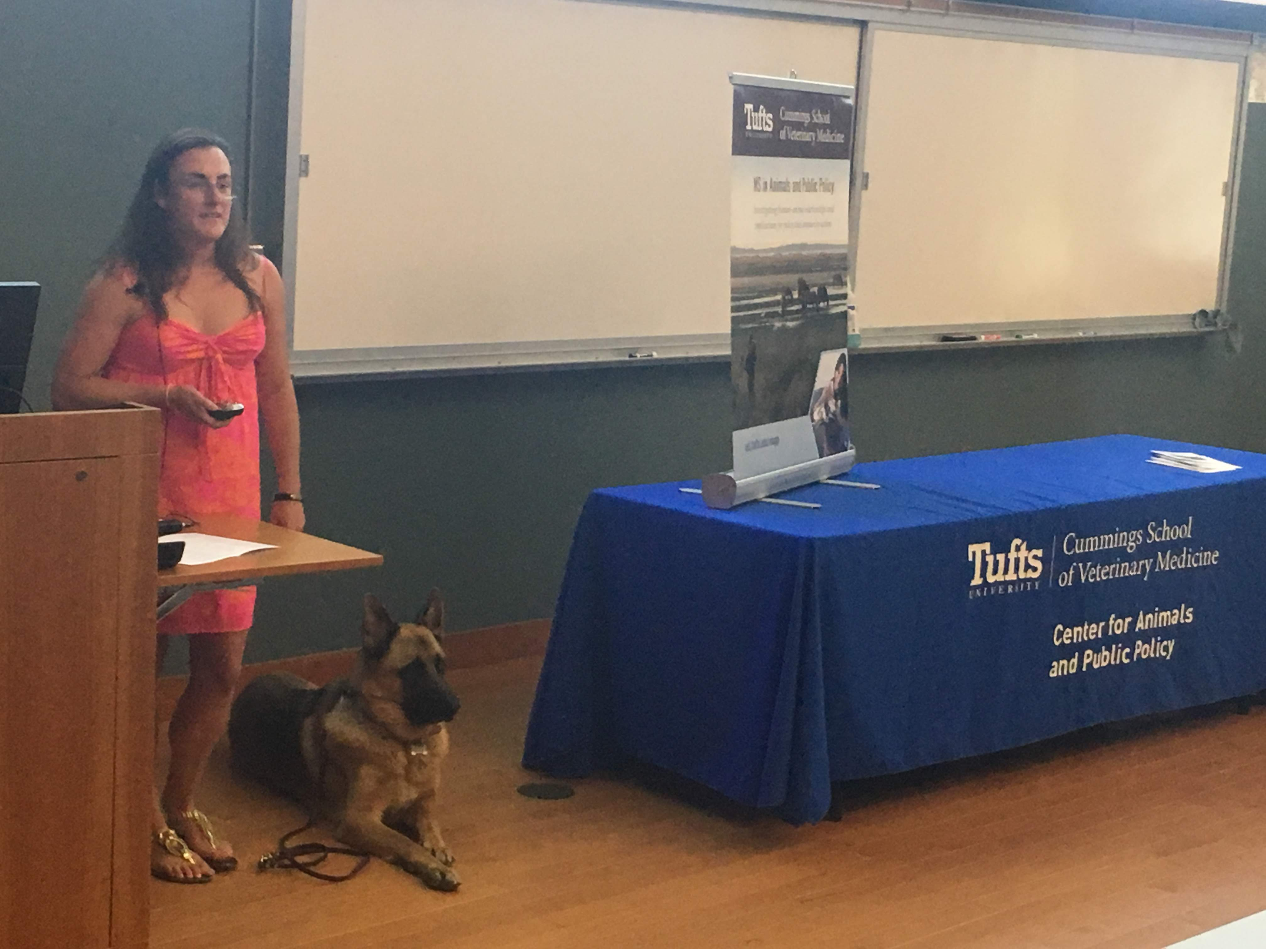 """Mikhaila Waldman presenting """"Lights, Critters, Action - Life Behind the Scenes at Critter Casting Animal Acting Agency"""" MAPP externship experience"""