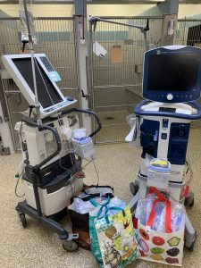 2 hospital ventilators being donated by Foster Hospital to Tufts Medical Center during COVID-19 crisis