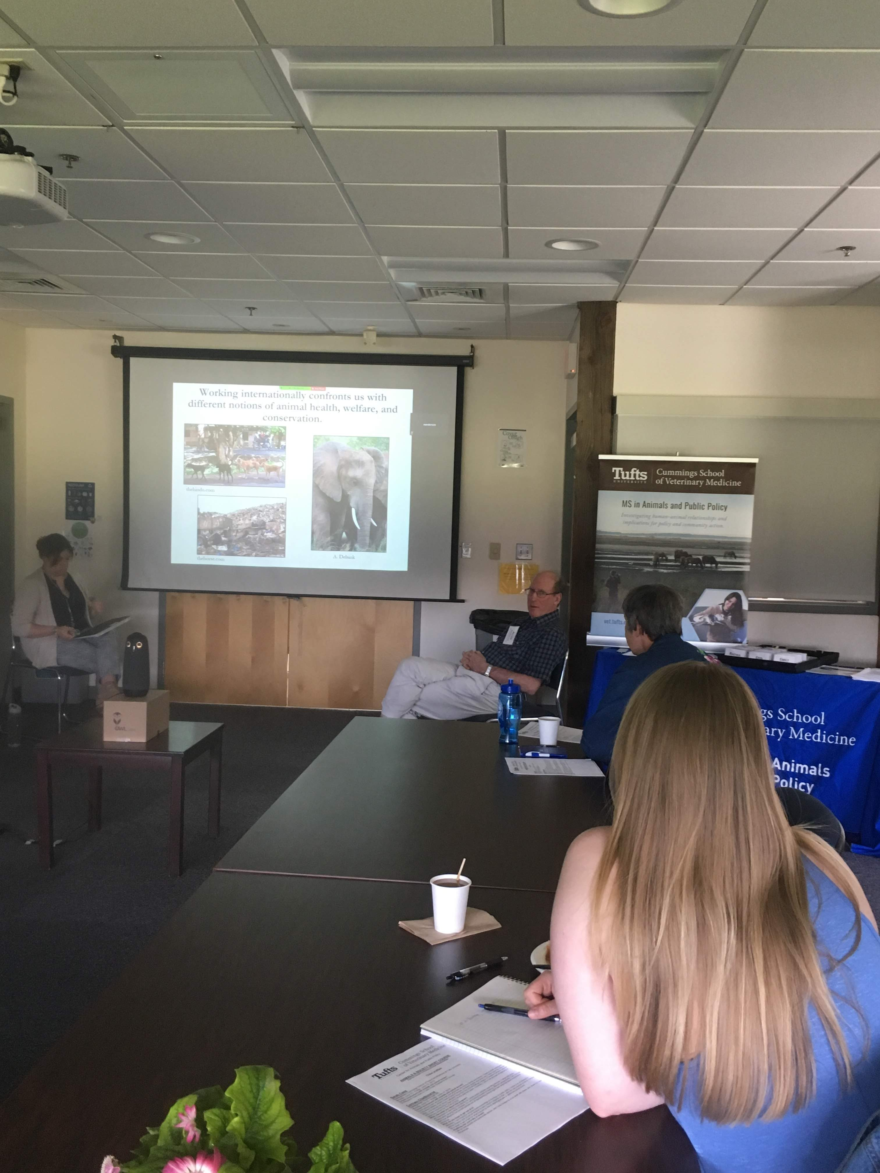 "Drs. Emily McCobb and Allen Rutberg spoke about ""Wicked Problems and Clashing Visions of Nature in Animal Policy:  Horses and Wildlife in the Community"""