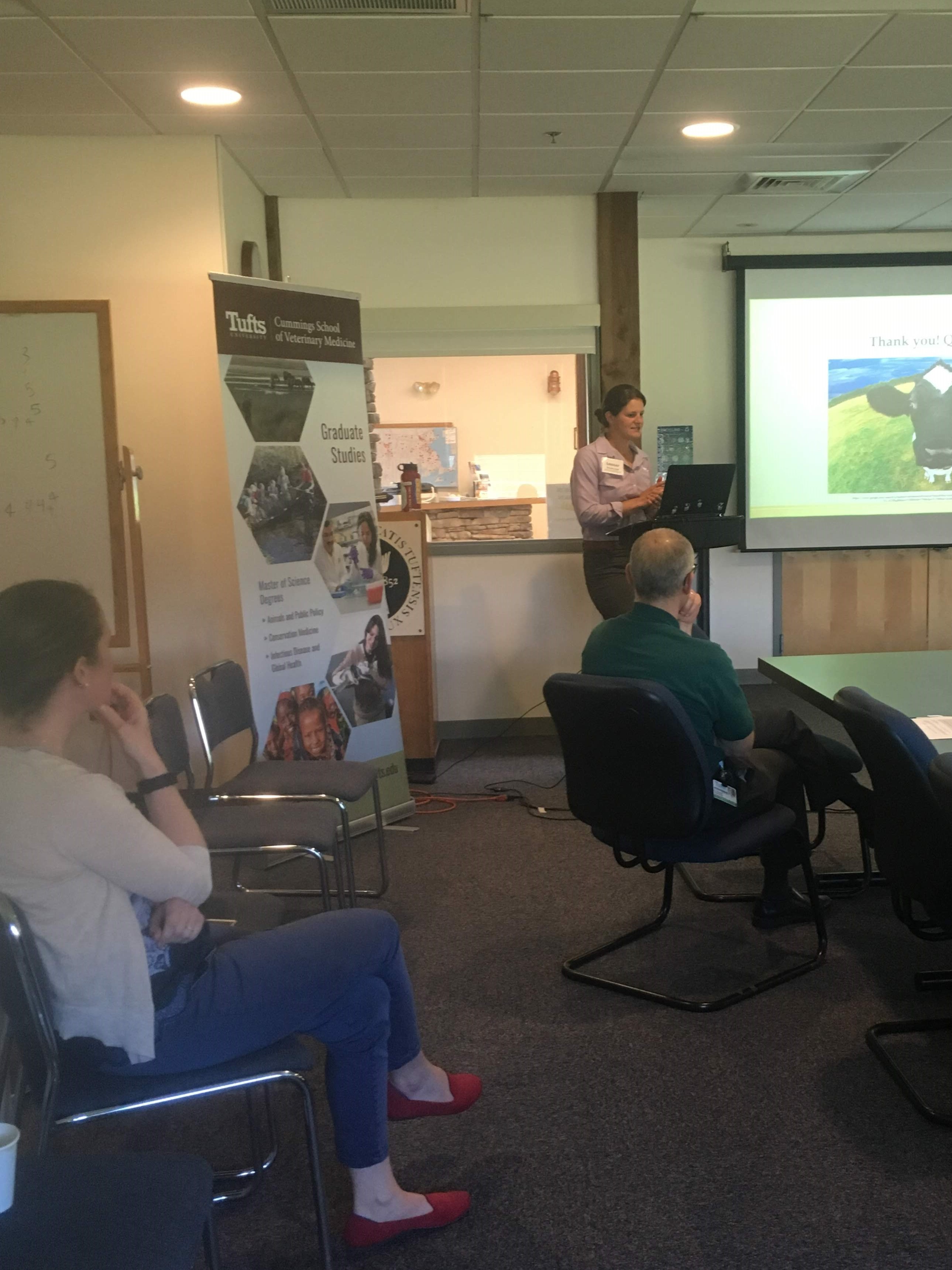 "Dr. Lindsay Philips spoke about ""Maintaining Animal Welfare in Food Production: An Overview"", ""Informing the Consumer: What Do All These Labels Mean?"" and ""Farm Animal Welfare Assessments"""