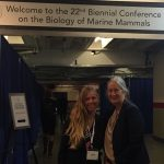Jennifer and Ren at Marine Mammal Conference