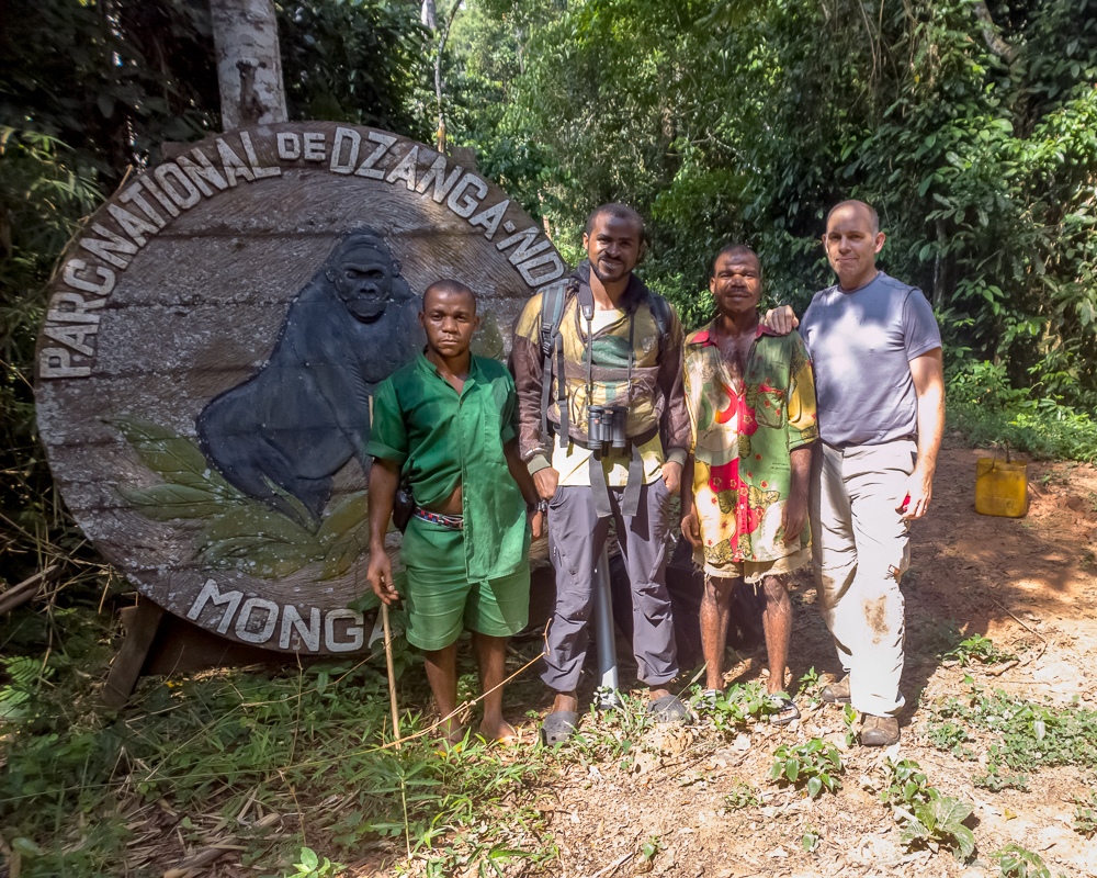 Dr. Whittier with WWF colleagues in the Central African Republic after completing a successful field procedure with western lowland gorillas.