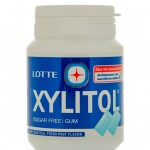 Winneconne, WI - 14 March 2016: A bottle of Xylitol chewing gum that is made the the Lotte Company.