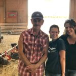 Maxine Young (MAPP 2016-2017 class) and Melissa Hoffman (2014-2015 class) with Farm Foward's Jewish Initiative for Animals visit Frank R. Reese Jr. at Good Shepherd Poultry Ranch