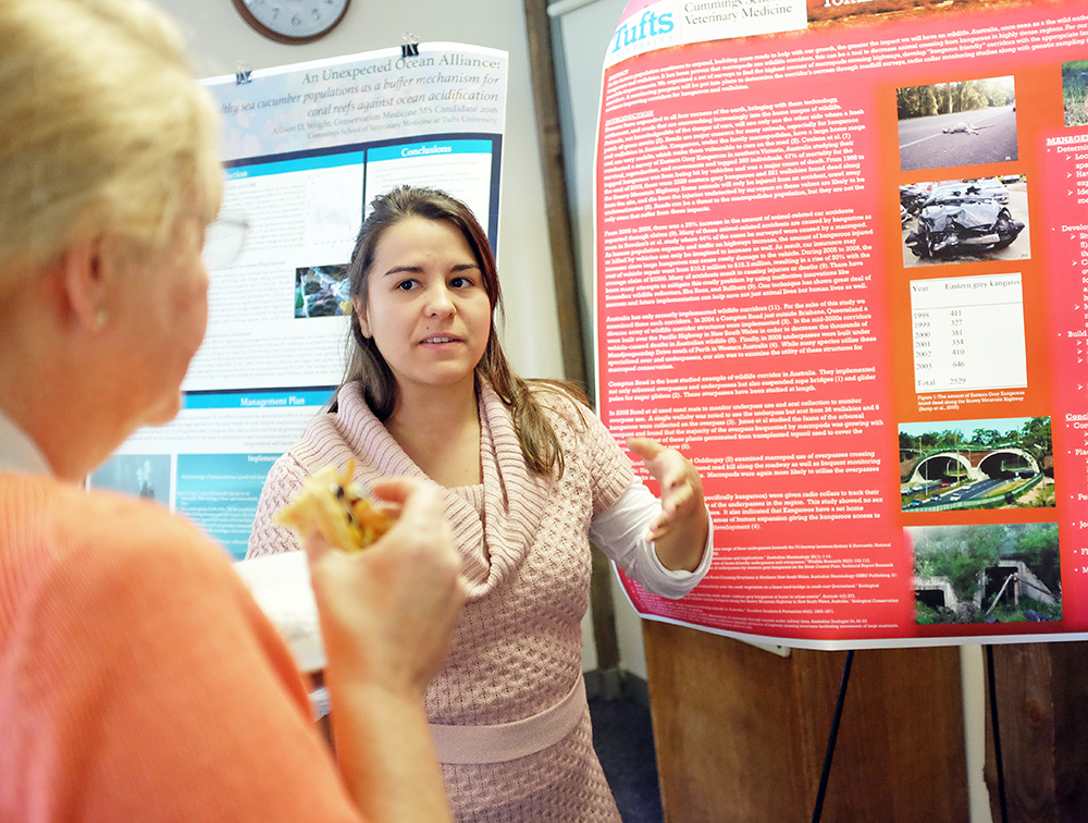 Students in the Conservation Medicine Masters Program showcased their first quarter projects