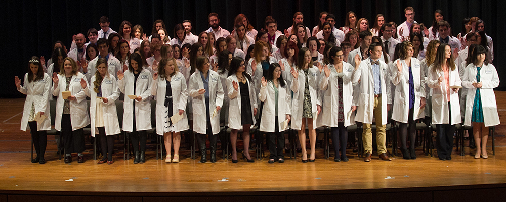 03/04/2016 - Worcester, Mass. - Tufts University Cummings School of Veterinary Medicine White Coat Ceremony at Worcester Technical High School. (Matthew Healey for Tufts University)
